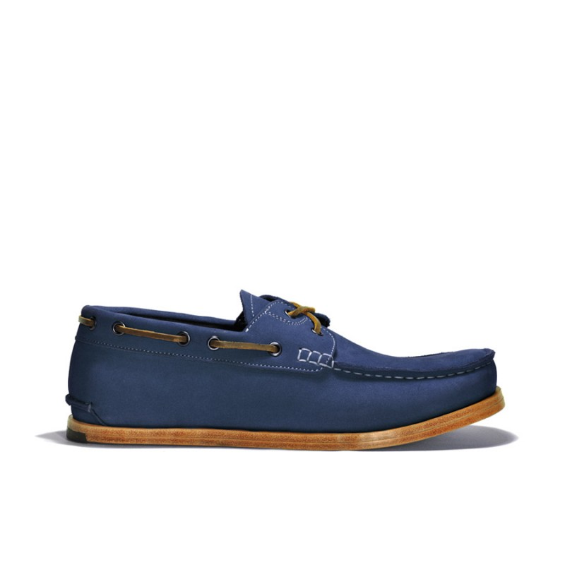 Navy Blue Leather Driver Shoes